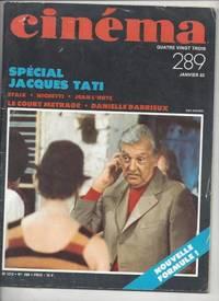 CINEMA 83 -N°289-SPECIAL JACQUES TATI / le devenir du court métrage / Danielle...