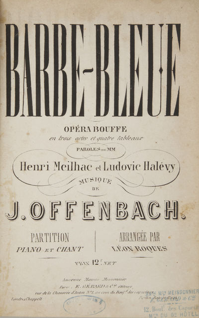Paris: E. Gérard & Cie. , 1866. Large octavo. Half ivory cloth with decorative boards, spine with d...