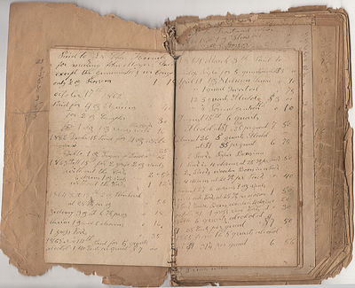 The cover of this 53-page handbound manuscript ledger measures approximately 5.25