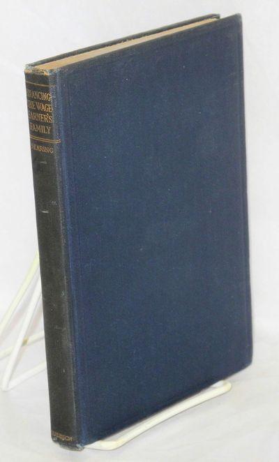 New York: B.W. Huebsch, 1914. 171p., tables, original cloth binding, spine endings slightly worn. Fi...