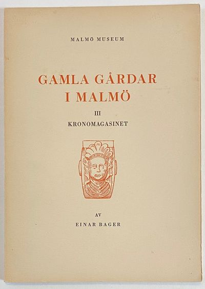 Malmö Museum, 1939. 67p., slender paperback, very good. Pages uncut at top. Part of a series on o...