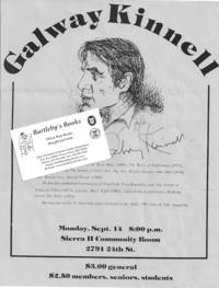 Arranging and advertising a reading in Sacramento, California, in 1981 as recorded in a small archive of correspondence and ephemera