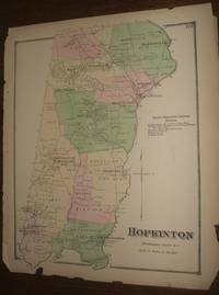 image of Rhode Island Map. Hopkinton, WashingtonCounty