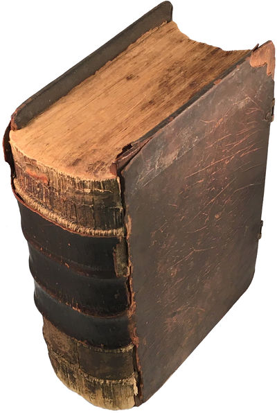 Germantown, PA: Christoph Saur, 1763. Second edition. Hardcover. Fair. Large 4to. 5-992, , 4-277, pp...