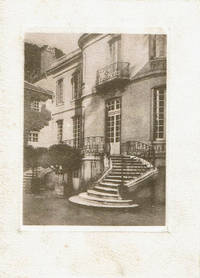 CHARLES HUARD CHRISTMAS  CARD WITH AN ORIGINAL ENGRAVING OF L'HOTEL PARTICULIER DE MME. DU BARRY A VERSAILLES.