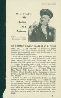 image of WC Fields: His Follies And Fortunes. Review of Robert Lewis Taylor's biography