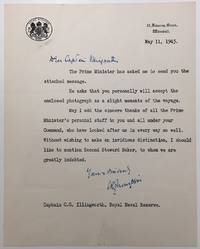 War-date Typed Letter Signed to a British ship captain by  Charles Ralfe (1894 - 1966) THOMPSON - Signed - 1943 - from Argosy Book Store (SKU: 278994)