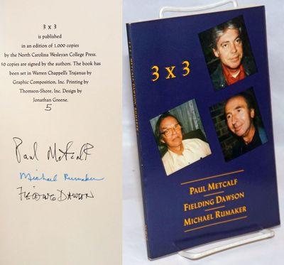 N. pl: North Carolina Wesleyan College Press, 1989. Paperback. 69p., #5/50 copies signed at colophon...
