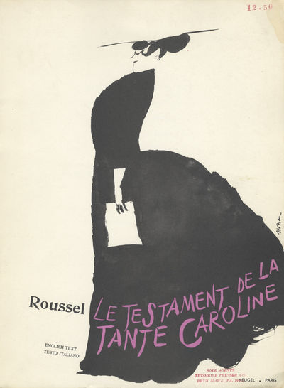 Paris: Heugel & Cie , 1967. Folio. Original publisher's ivory illustrated wrappers printed in nblack...