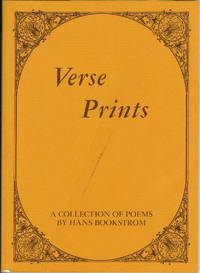 Verse Prints : A Collection of Poems By Hans Bookstrom 1910-1969