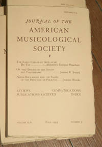 Journal of the American Musicological Society. Volume XLVI Fall 1993, Number 3