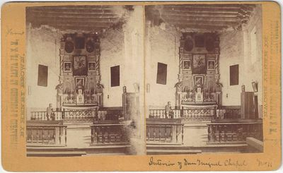 Santa Fe, NM: Photographed and Published by Henry Brown, 1867. Stereoview. Albumen photograph on a y...