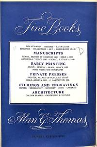 Catalogue  11/1962 - FINE BOOKS by  ALAN G THOMAS - from Frits Knuf Antiquarian Books (SKU: 58451)