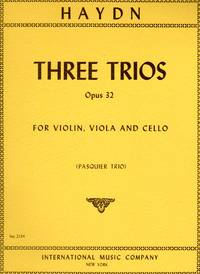 Three Trios, Op. 32 - for Violin, Viola, and Cello  [SET of THREE STRING PARTS] by  Franz Joseph Haydn - Paperback - 1954 - from bookarrest and Biblio.co.uk