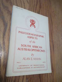 Paleodemographic Aspects of the South African Australopithecines