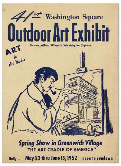 New York: Washington Square Outdoor Art Exhibit, 1952. First Edition. Small quarto broadside (23.5cm...