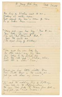 AUTOGRAPH MANUSCRIPT SIGNED (AMS): A Young Girl's Song