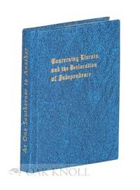 Skokie, IL: Black Cat Press, 1982. cloth, title gilt-stamped on spine and front board, decorated end...
