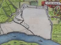 image of Hand Colored 1636 Print, Map of Valance, from 'Les plans et profils de toutes les principales villes et lieux considerables de France