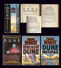 DUNE, DUNE MESSIAH, HERETICS OF DUNE. Three volumes. Signed.