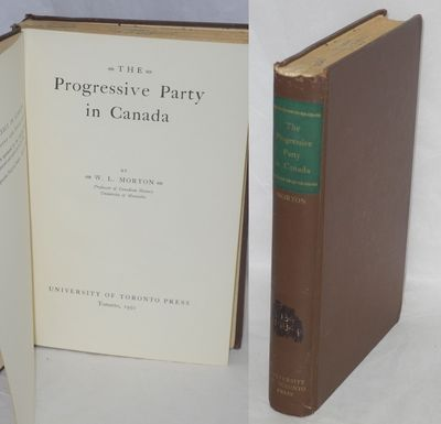 Toronto: University of Toronto Press, 1950. Hardcover. xiii, 331p., first edition, ex-library with p...