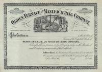 Ogden Furnace and Manufacturing Company Stock Certificate