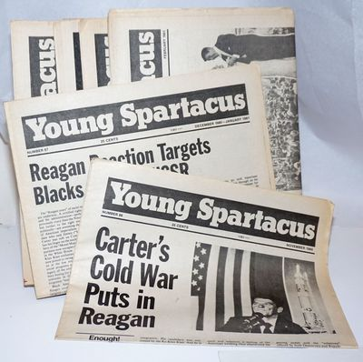 New York: Spartacus Youth Publishing Co, 1981. Seven issues of the newspaper, a complete run for the...