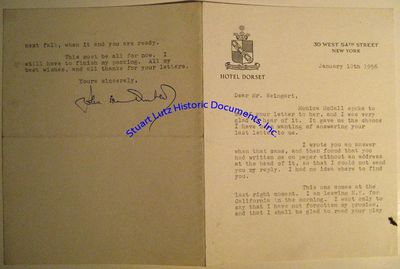 JOHN VAN DRUTEN (1901-1957). Van Druten was an English-born playwright and thespian successful in bo...