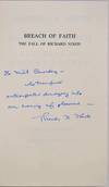 View Image 2 of 2 for BREACH OF FAITH. The Fall of Richard Nixon. Signed and inscribed by Theodore H. White. Inventory #019536