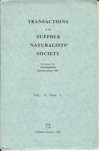 Transactions of the Suffolk Naturalists' Society Vol. 13 - Part 3