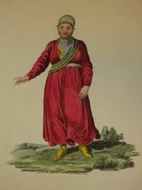 The Costume of the Russian Empire 1811. Original Hand Coloured Engravings by John Dadley (after Johann Gottlieb Georgi). Plate XX: A Female Tartar of Kazan [Tatar/Tatars/Tatarstan]