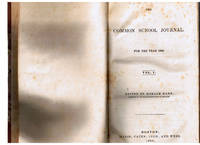 Common School Journal for 1839- 1840 (Volume 1 and 2 )