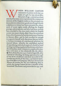 William Caxton: A Paper Read at a Meeting of the Club of Odd Volumes in Boston Massachusetts U.S.A. in January MDCCCCVIII by George Parker Winship