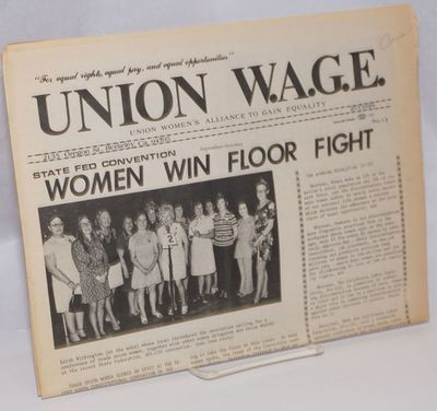 Berkeley, CA: Union Women's Alliance to Gain Equality, 1972. Newspaper. Folded tabloid format newspa...