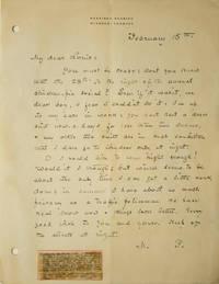 "Autograph Letter Signed (""M.P.""), to ""My dear Louis"""