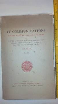 FF Communications edited for the Folklore Fellows Vol. LXXII no 178
