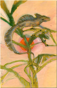 [Original Watercolor Drawing of a Plumet Basilisk]