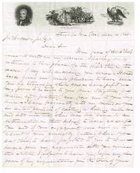 rare 1841 unlisted William Henry Harrison illustrated campaign stampless letter sheet