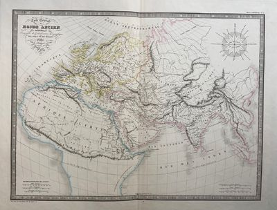 Paris: L. Guerin, 1853. unbound. Map. Engraving with hand coloring. Image measures 15