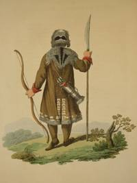 The Costume of the Russian Empire 1811. Original Hand Coloured Engraving by John Dadley (after Johann Gottlieb Georgi). Plate XXXVIII: The Back Figure of a Yakut in his Hunting Dress [Yakhuts/Sakha]