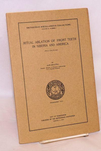 Washington DC: Smithsonian Institution, 1940. 32p., wraps, pages partly uncut. Five B&W photo plates...