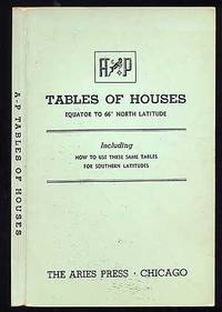 A- P Tables of Houses Equator to 66 Degrees North Latitude
