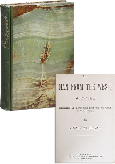 New York: J.S. Ogilvie, 1894. Reprint. Hardcover. Uncommon early novel of Wall Street, in which a Te...