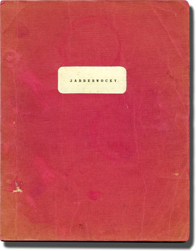 London: Cinema 5, 1977. Early Draft British script for the 1977 comedy directed by Terry Gilliam, ba...