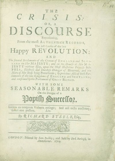 London: Printed by Sam. Buckley and sold by Ferd. Burleigh, 1714, 1714. First edition, second issue,...