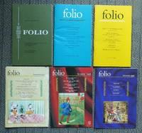 image of FOLIO MAGAZINE.  OCTOBER-DECEMBER 1968 & WINTER/SPRING 1996 & AUTUMN 1996 & SUMMER 1997 & SUMMER 1998 & WINTER 1998.  6 ISSUES.