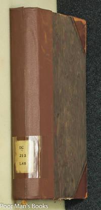 LETTRES INÉDITES DE NAPOLÉON 1ER (AN VIII - 1815) Vol I by Lecestre Léon - Hardcover - 1897 - from poor mans books (SKU: 34191)