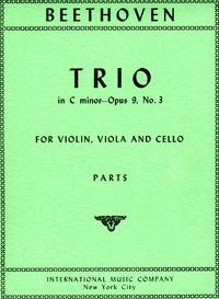 Trio in C Minor, Op. 9, No. 3 - for Violin, Viola, and Cello [SET of THREE STRING PARTS] by  Ludwig Van Beethoven - Paperback - from bookarrest (SKU: MSC1512)