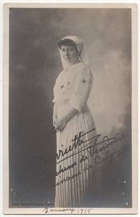 (Real photo post card): Henriette, Duchesse de Vendome in Nurse's Uniform