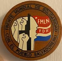 image of FMLN / FDR / Frente Mundial de Solidaridad con el Pueblo Salvadoreño [pinback button]